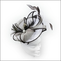 Neutral brown, beige and ivory disc wedding fascinator; perfect for wedding guests, Mother of the Bride or the races.