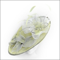 Summery lemon yellow and white wedding fascinator; perfect for wedding guests, Mother of the Bride or the races.